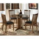 Signature Design by Ashley Stuman 5-Piece Round Drop Leaf Table Set - Item Number: D293-15+4x01