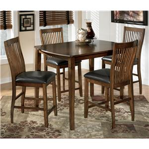 Burgis Design Stuman Rectangular Dining Room Counter Table Set