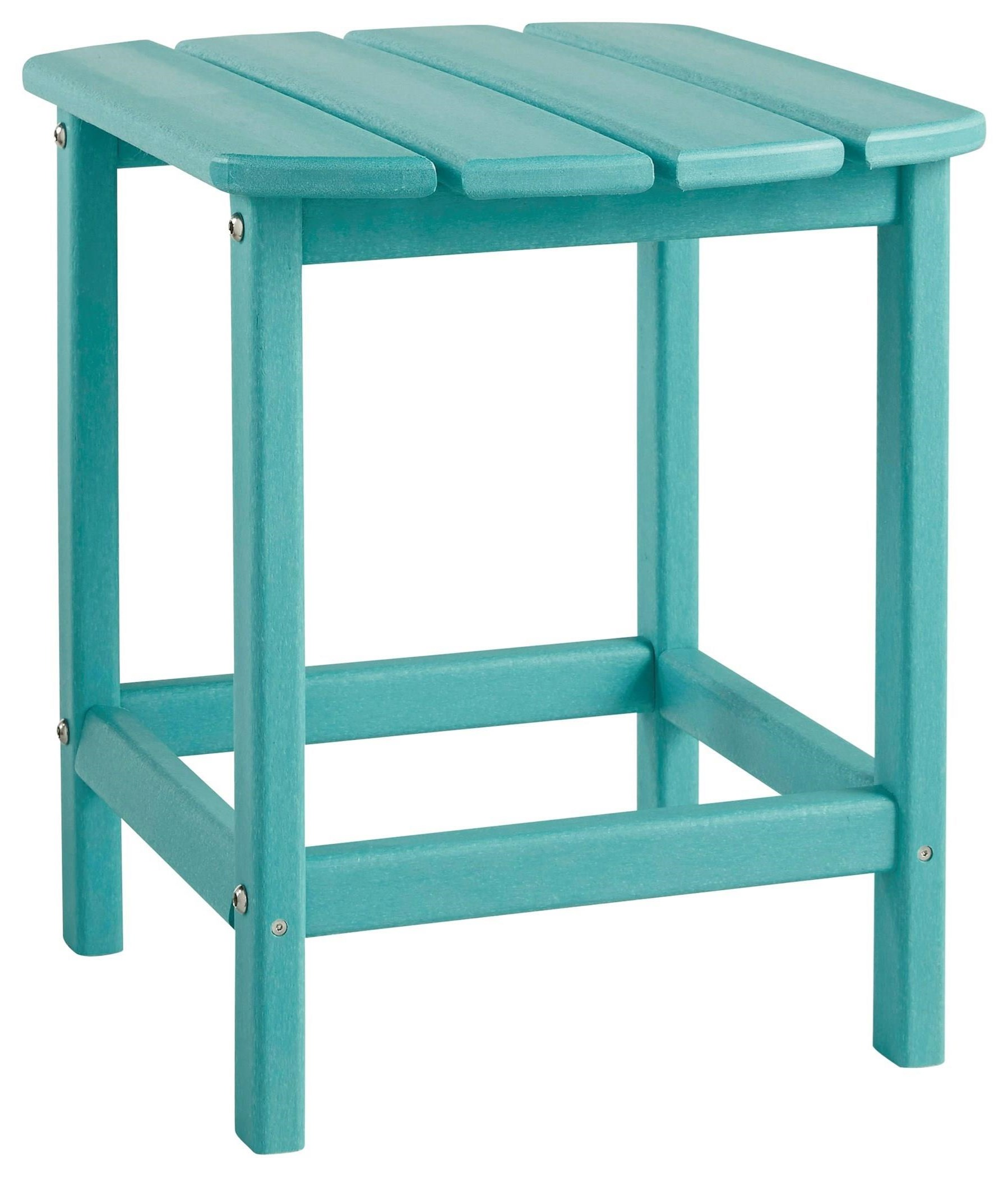 Sundown Treasure Blue Sundown Treasure Outdoor End Table by Ashley at Morris Home