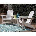 Signature Design by Ashley Sundown Treasure 2 Adirondack Chairs and End Table Set - Item Number: P011-703+2x898