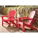 Signature Design by Ashley Sundown Treasure 2 Adirondack Chairs and End Table Set - Item Number: P013-703+2x898