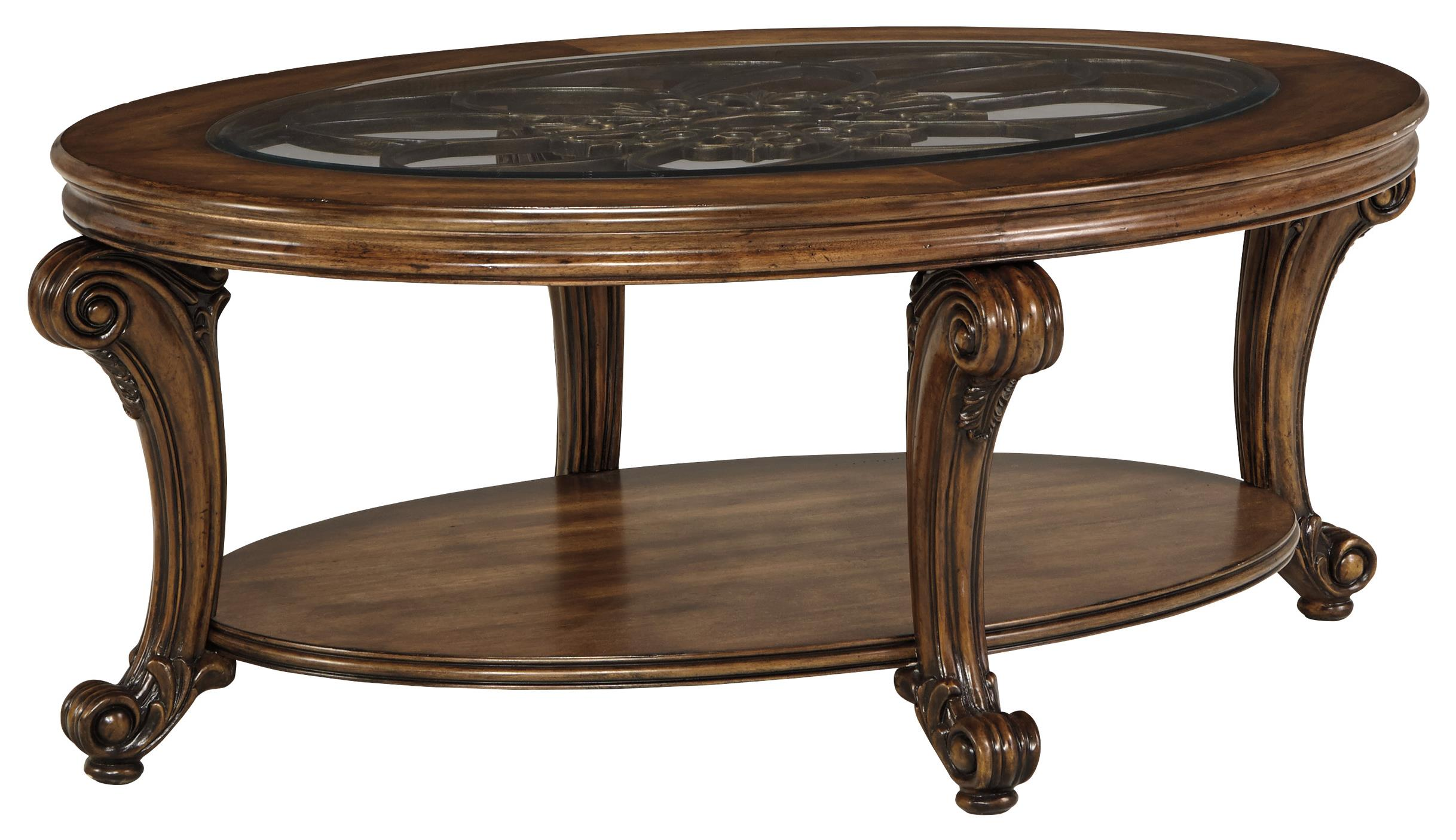 Signature Design by Ashley Sydmore Oval Cocktail Table - Item Number: T799-0