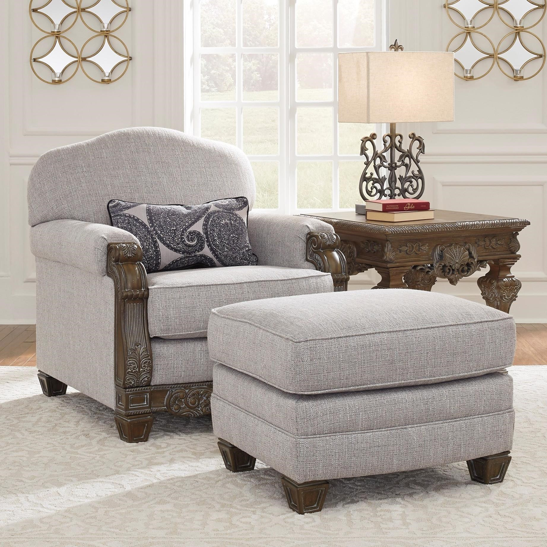 Ashley Signature Design Sylewood Traditional Chair And