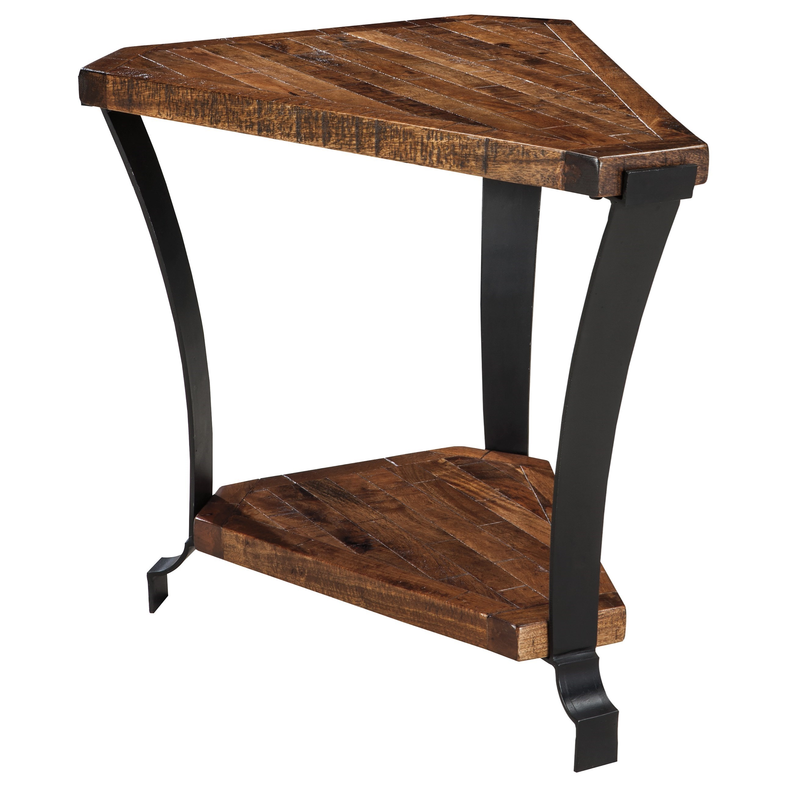 Signature Design By Ashley Taddenfeld Solid Wood And Metal Chair Side End Table Wayside