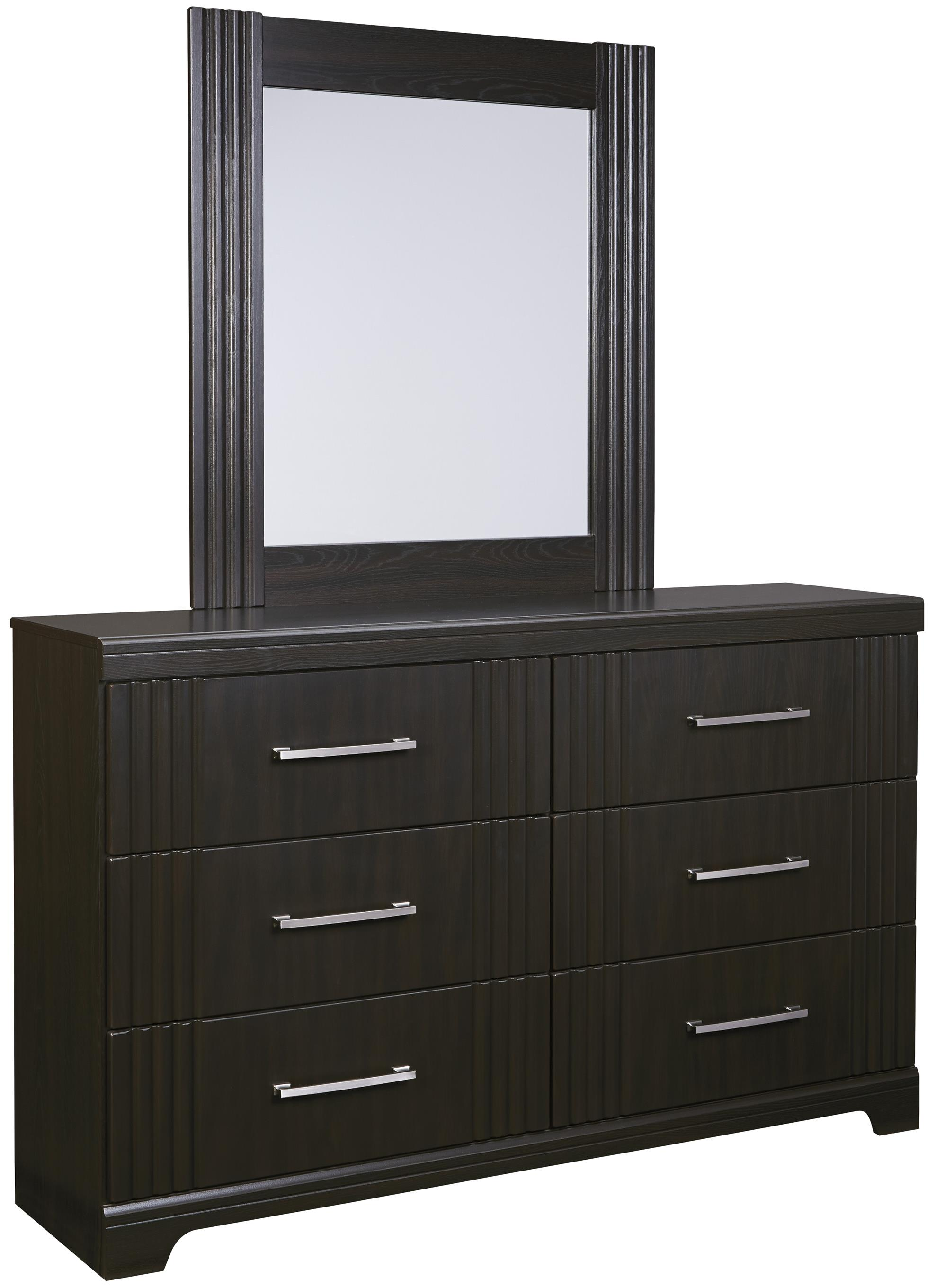 Signature Design by Ashley Tadlyn Dresser and Mirror - Item Number: B146-31+36
