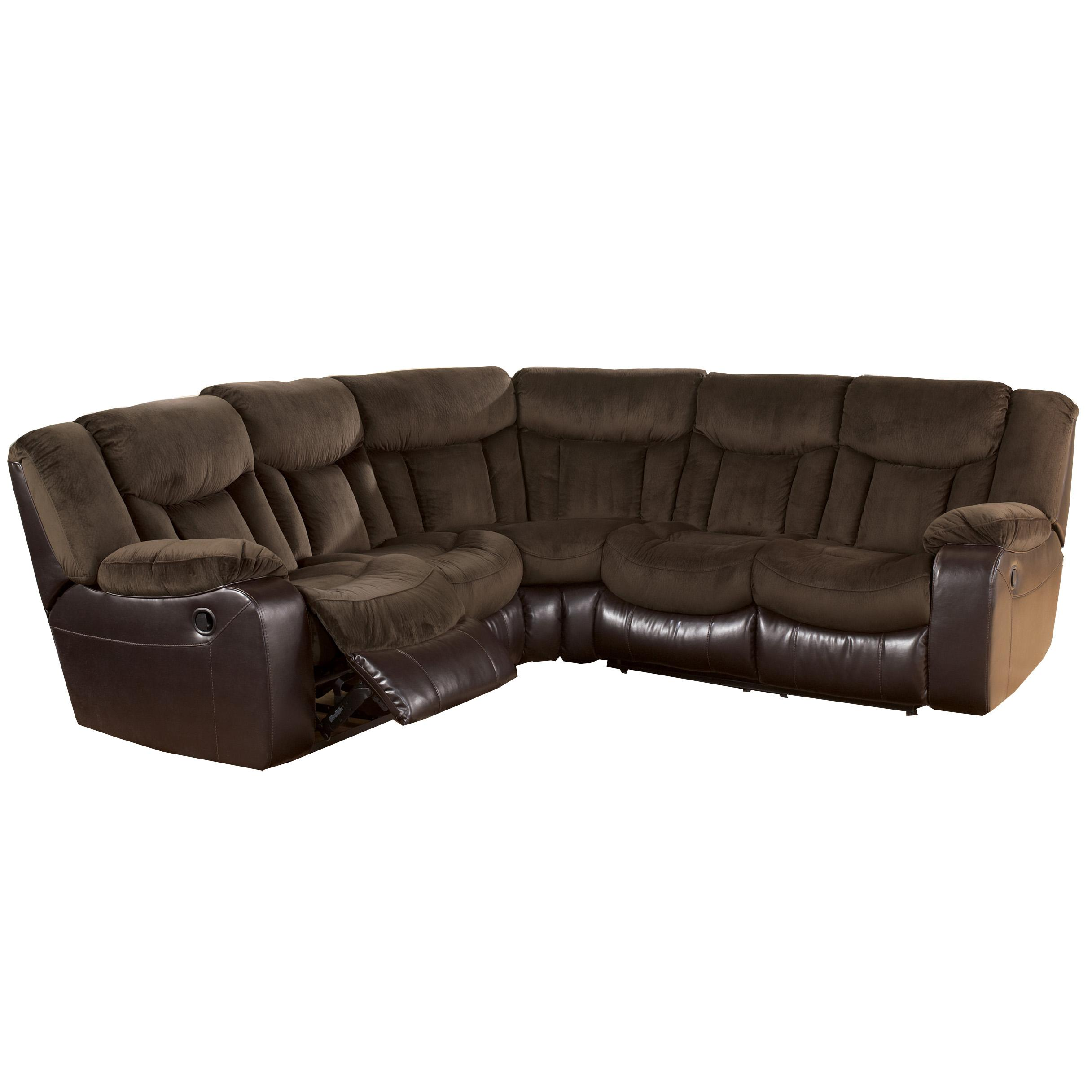 Signature Design by Ashley Tafton - Java Double Reclining Two Loveseat Sectional - Item Number: 7920248+7920249