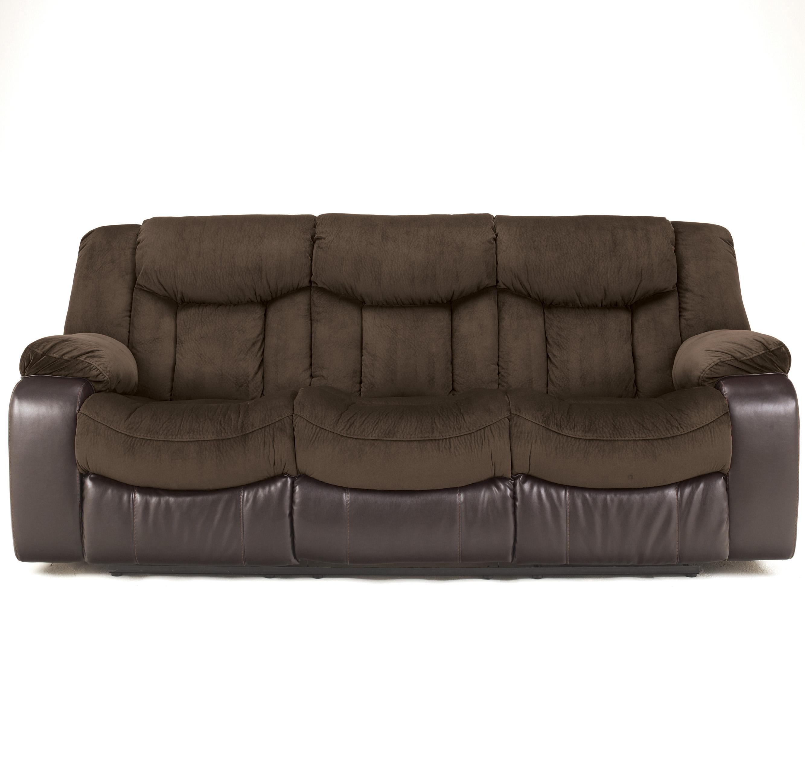 Signature Design By Ashley Tafton Java 7920288 Contemporary Reclining Sofa Household