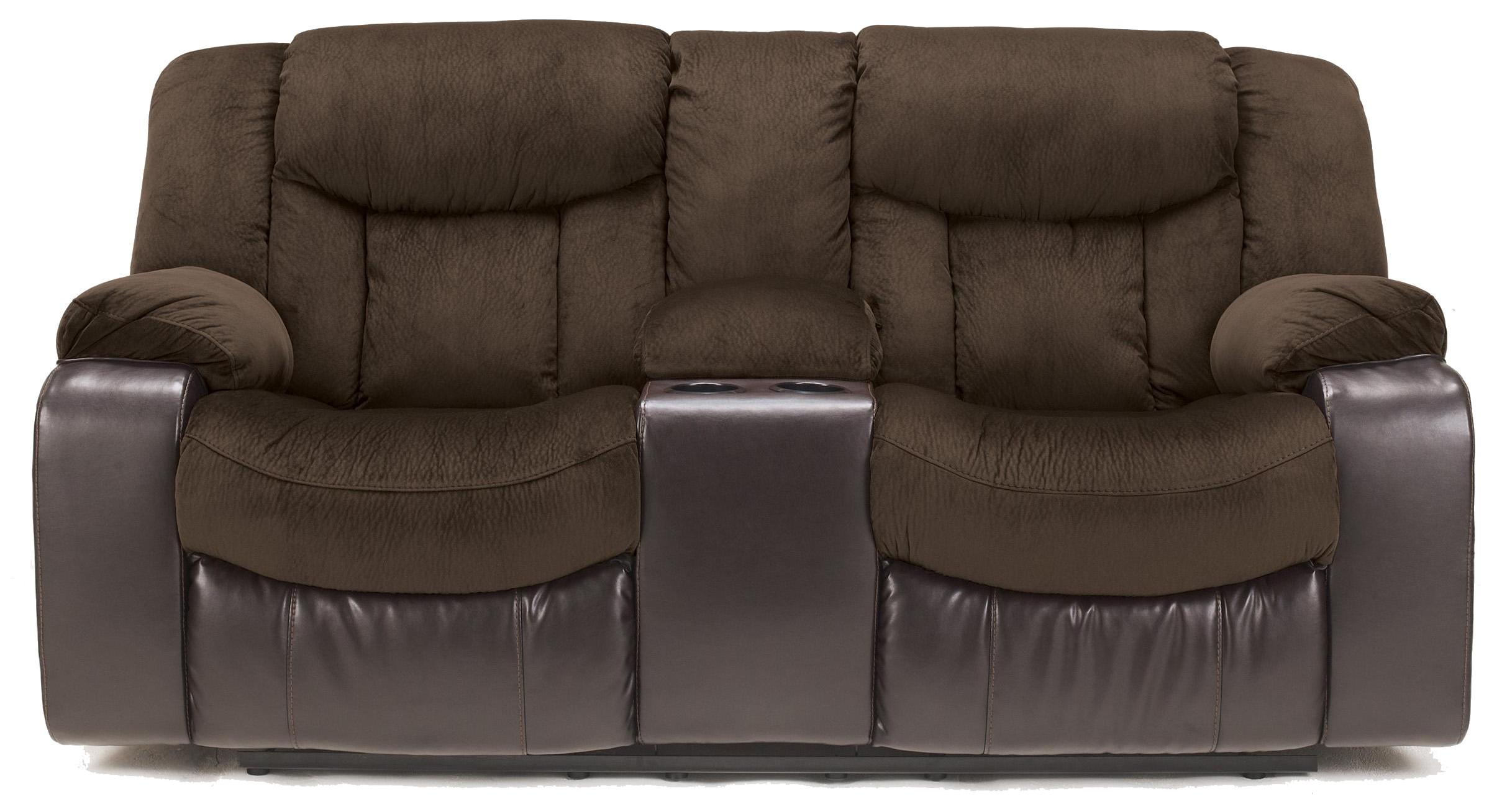 Signature Design By Ashley Tafton Java 7920294 Contemporary Double Reclining Loveseat With