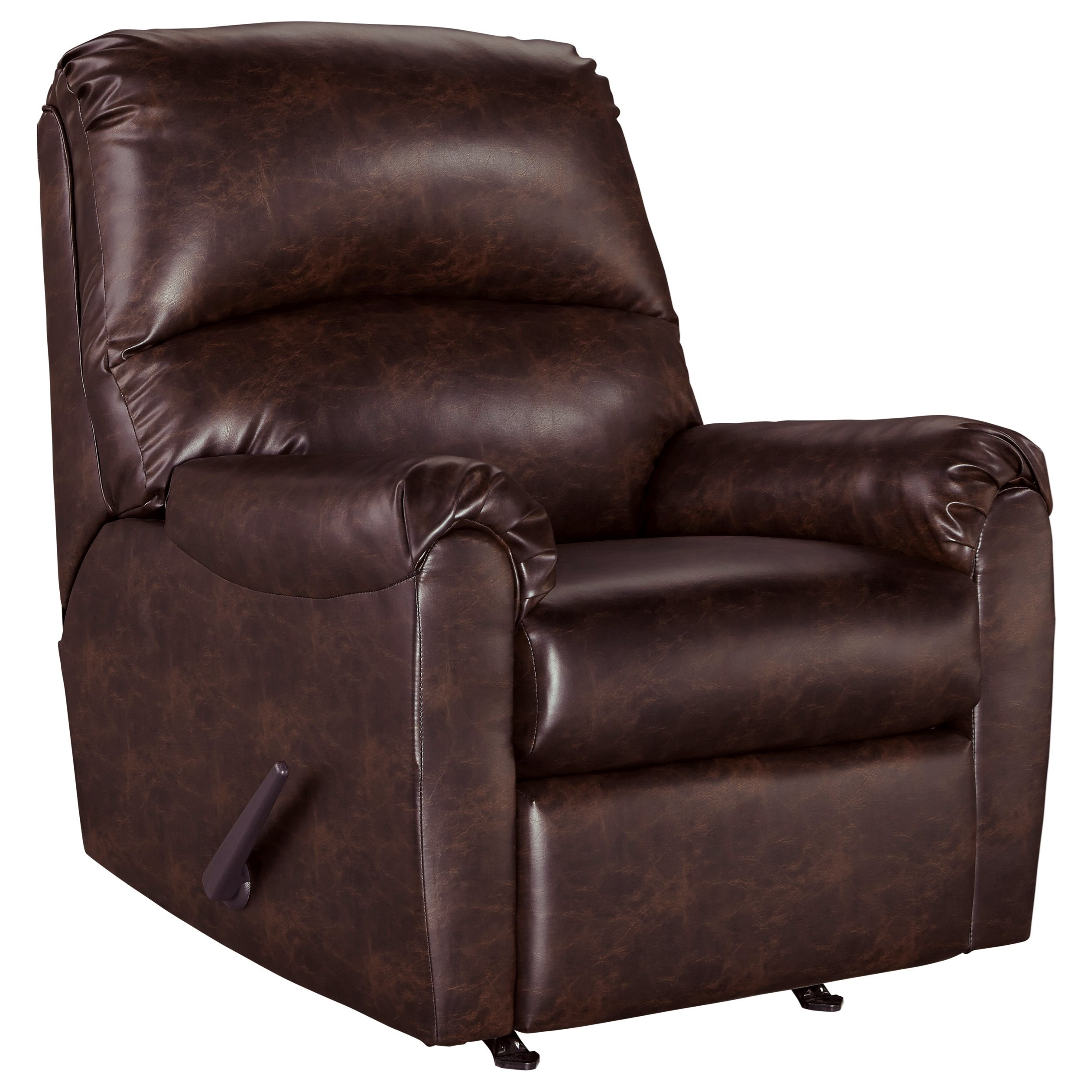 Signature Design By Ashley Talco 6550325 Faux Leather Rocker Recliner Household Furniture