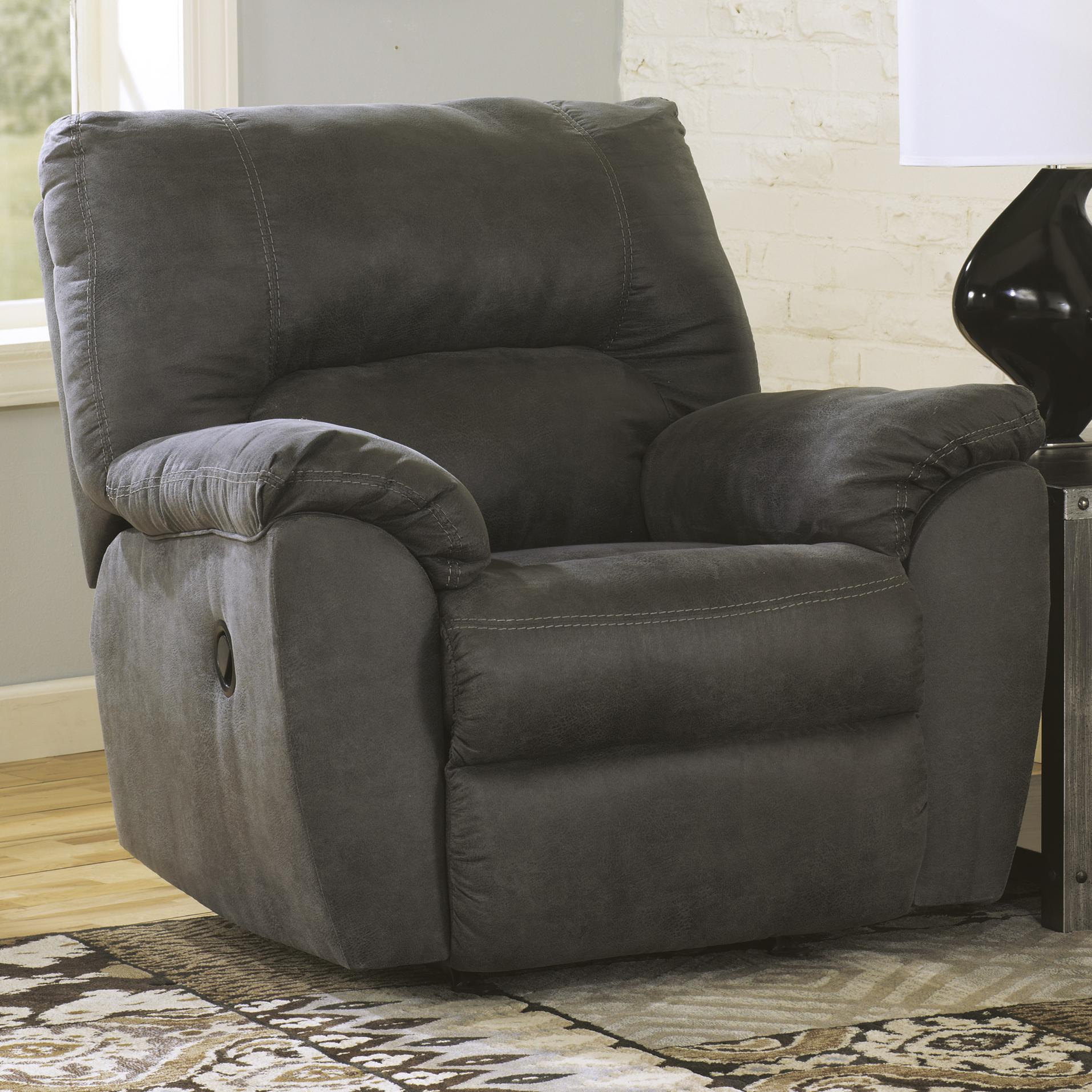 Picture of: Signature Design By Ashley Tambo Pewter 2780125 Casual Contemporary Rocker Recliner Sam Levitz Furniture Recliners