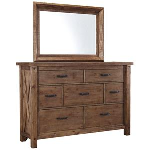 Signature Design by Ashley Tamilo 7 Drawer Dresser and Mirror