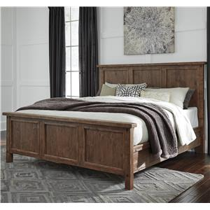Signature Design by Ashley Tamilo Queen Wood Panel Bed
