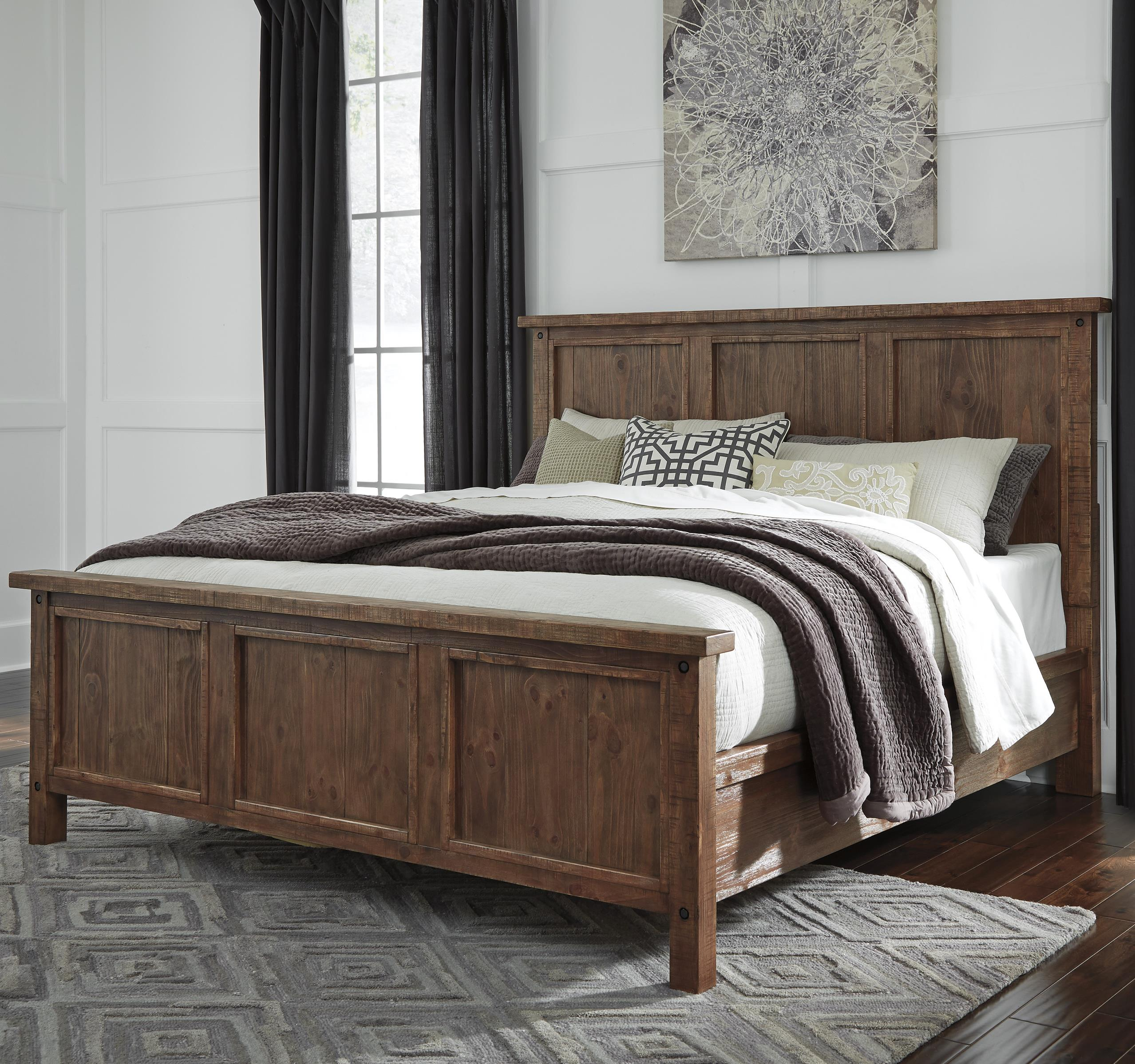 Signature Design by Ashley Tamilo California King Wood Panel Bed - Item Number: B714-58+56+95