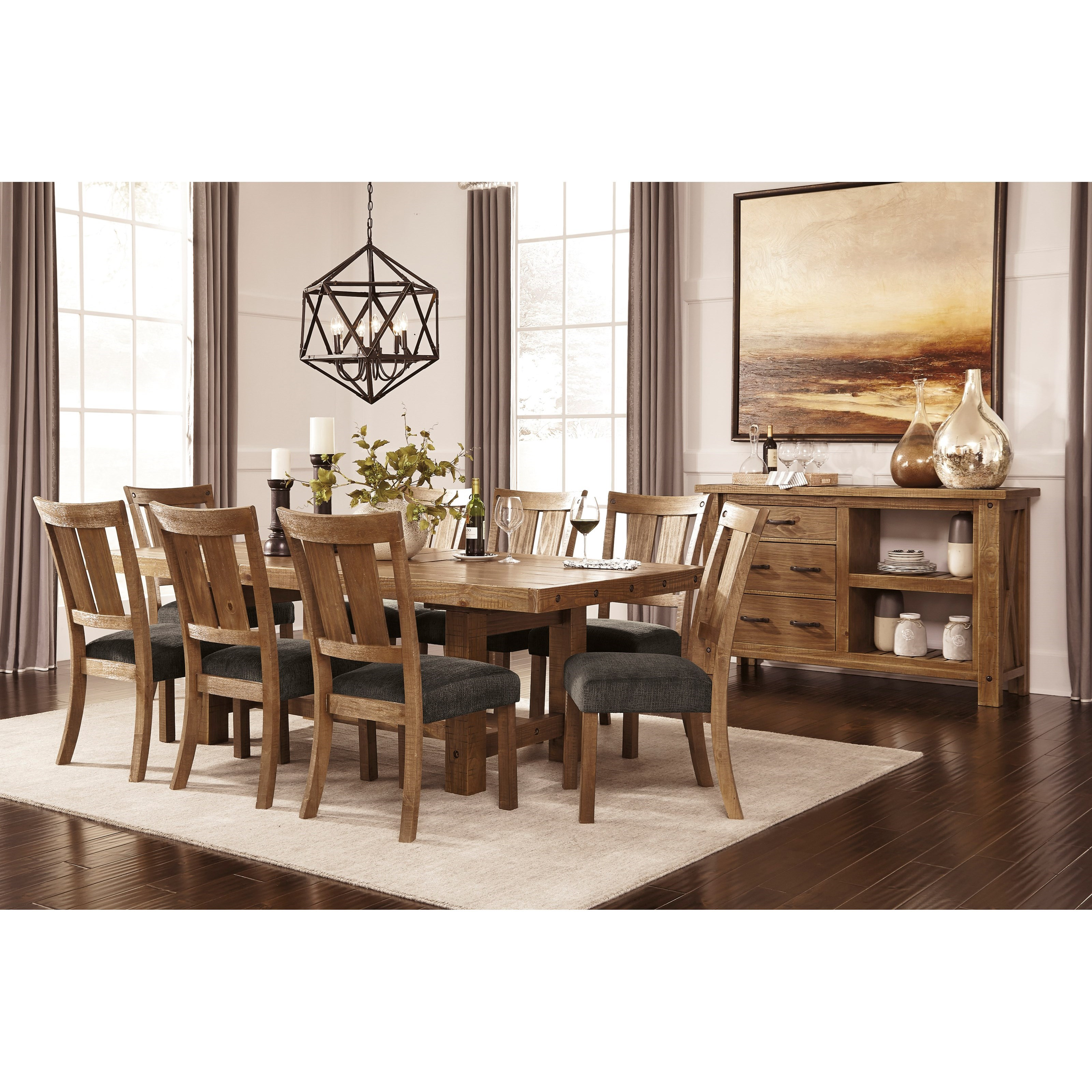 Signature Design by Ashley Tamilo Formal Dining Room Group - Item Number: D714 Dining Room Group 1