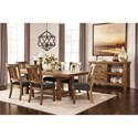 Signature Design by Ashley Tamilo Formal Dining Room Group - Item Number: D714 Dining Room Group 2