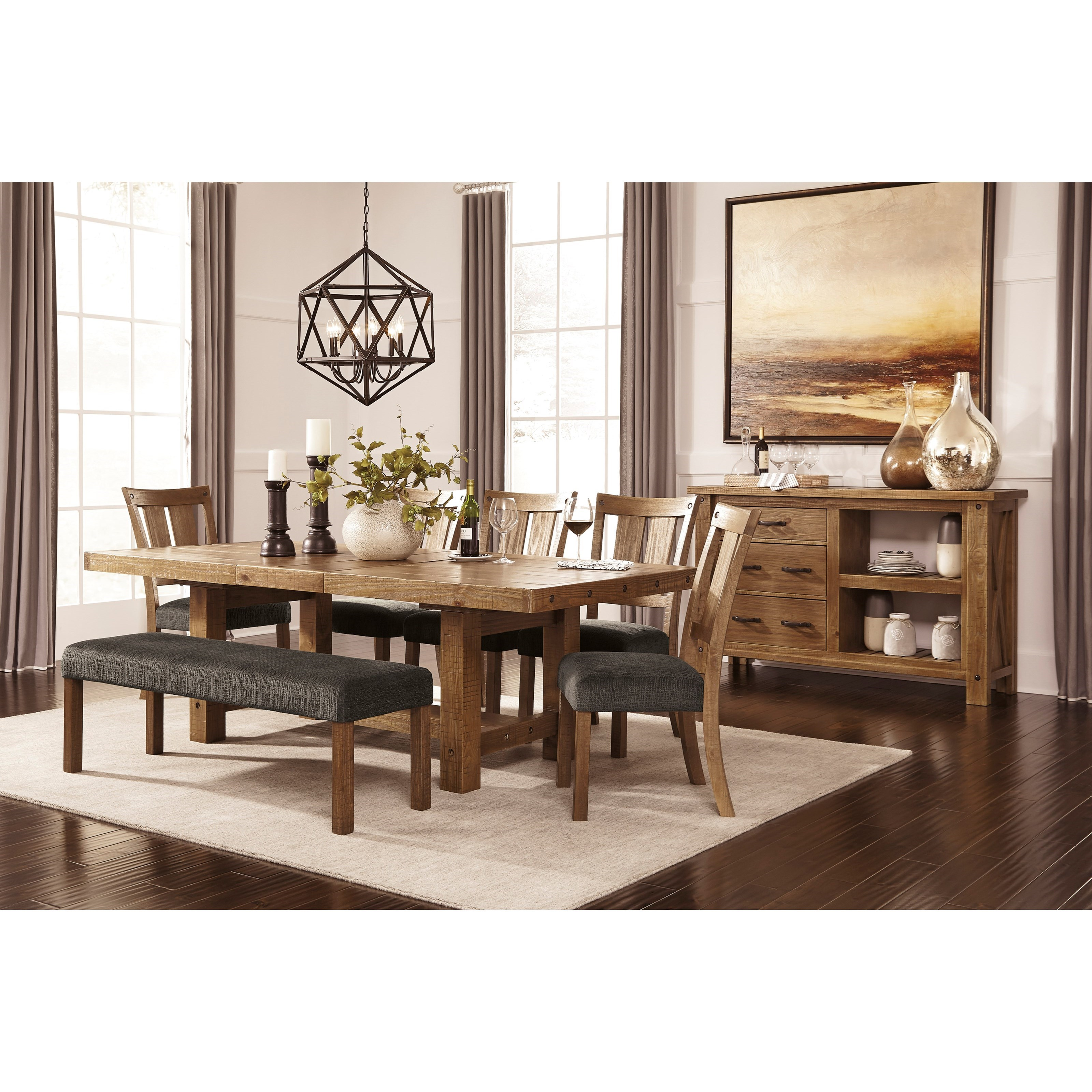 Signature Design by Ashley Tamilo Formal Dining Room Group - Item Number: D714 Dining Room Group 4