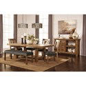 Signature Design by Ashley Tamilo Large Upholstered Dining Room Bench
