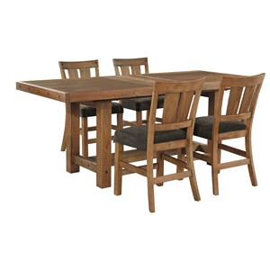 Signature Design by Ashley Tamilo 5 Piece Counter Extension Table Set