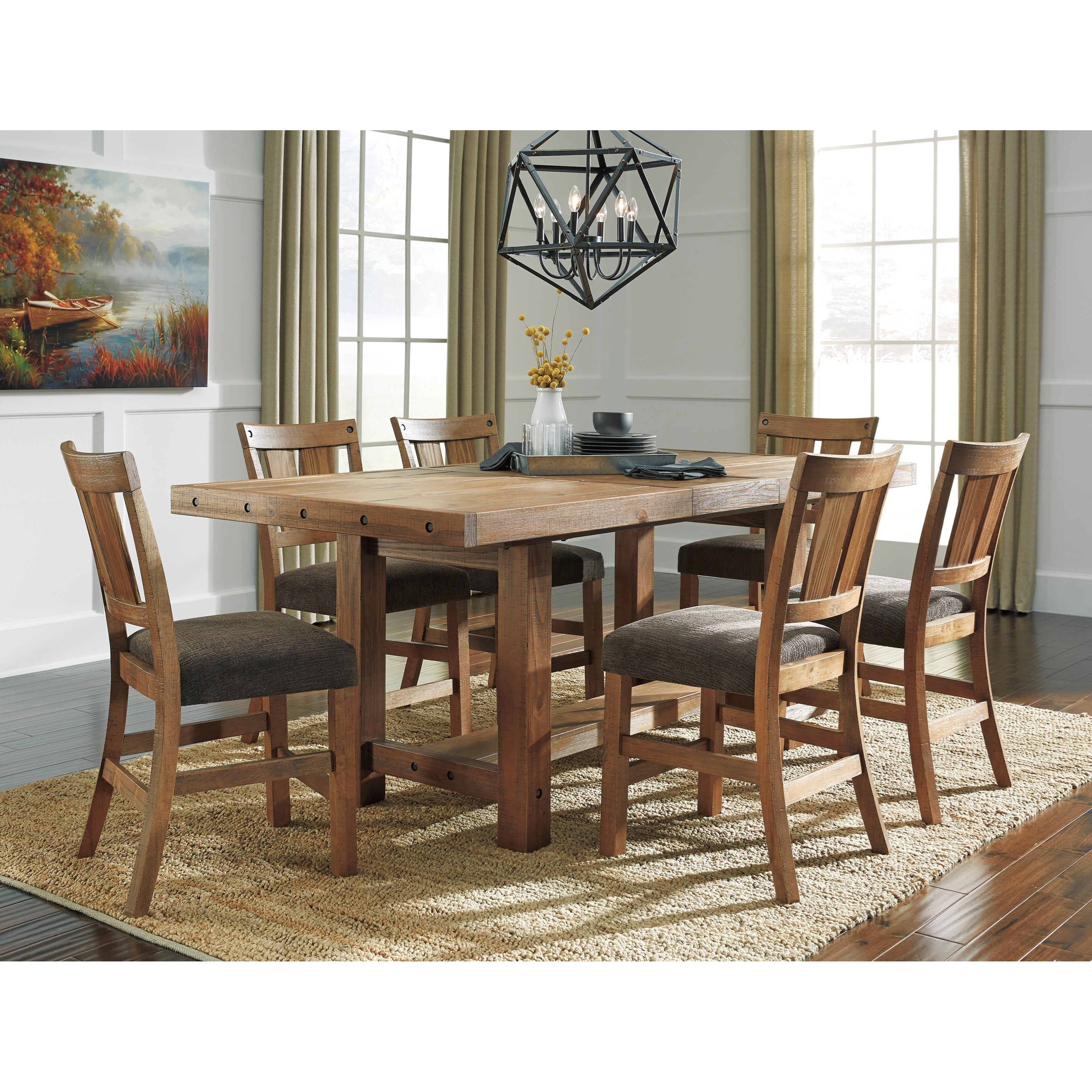 Signature Design By Ashley Tamilo 7 Piece Counter Extension Table Set Miskelly Furniture Pub