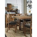 Signature Design by Ashley Tamilo 9 Piece Counter Extension Table Set