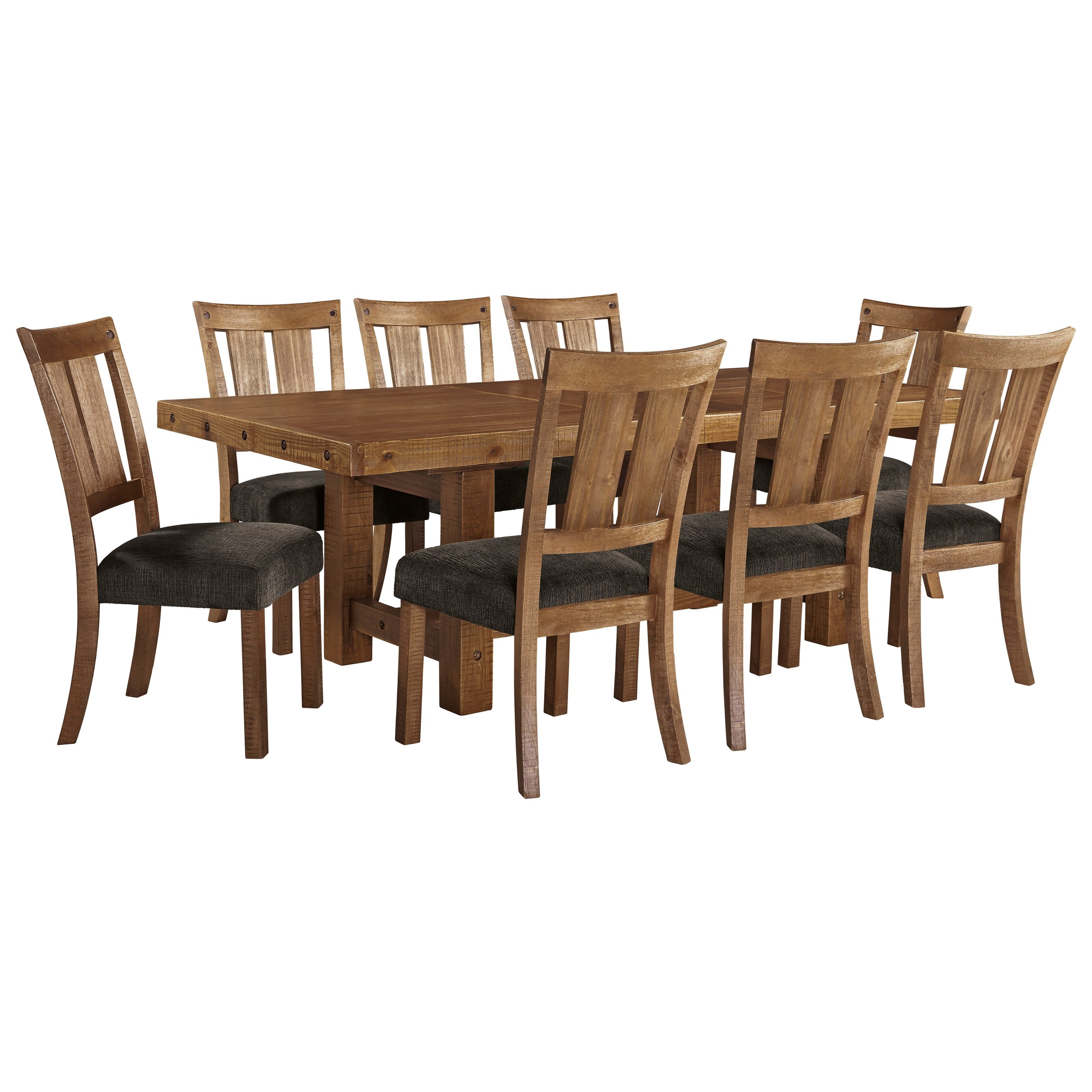 9 Piece Table & Chair Set with Leaf
