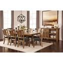 Signature Design by Ashley Tamilo 9 Piece Table & Chair Set with Leaf