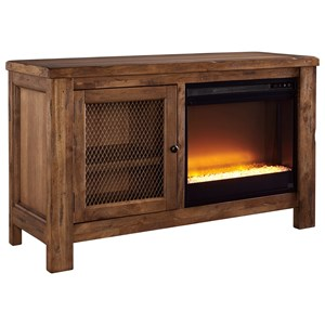 Signature Design by Ashley Tamonie TV Stand with Fireplace Insert