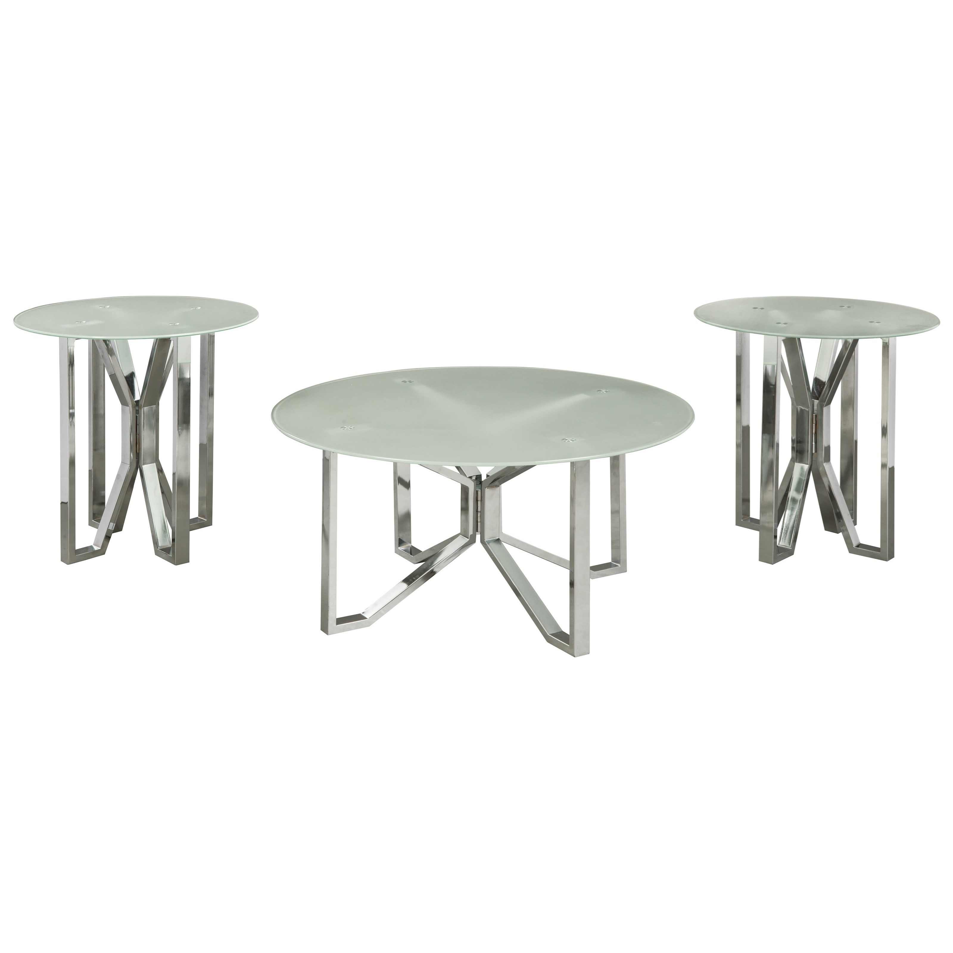 Signature Design by Ashley Tangeline 3 Piece Occasional Table Set - Item Number: T320-13