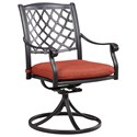 Signature Design by Ashley Tanglevale Set of 2 Outdoor Swivel Chairs w/ Cushion - Item Number: P557-602A
