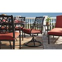 Signature Design by Ashley Tanglevale Set of 2 Outdoor Swivel Chairs w/ Cushion
