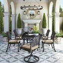 Signature Design by Ashley Tanglevale 7 Piece Outdoor Dining Set - Item Number: P557-635+P559-602A+2x601A