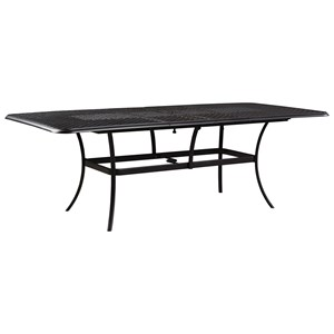 Signature Design by Ashley Tanglevale Rectangular Extension Table w/ Umbrella Opt