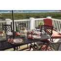 Signature Design by Ashley Tanglevale Rectangular Extension Table w/ Umbrella Option