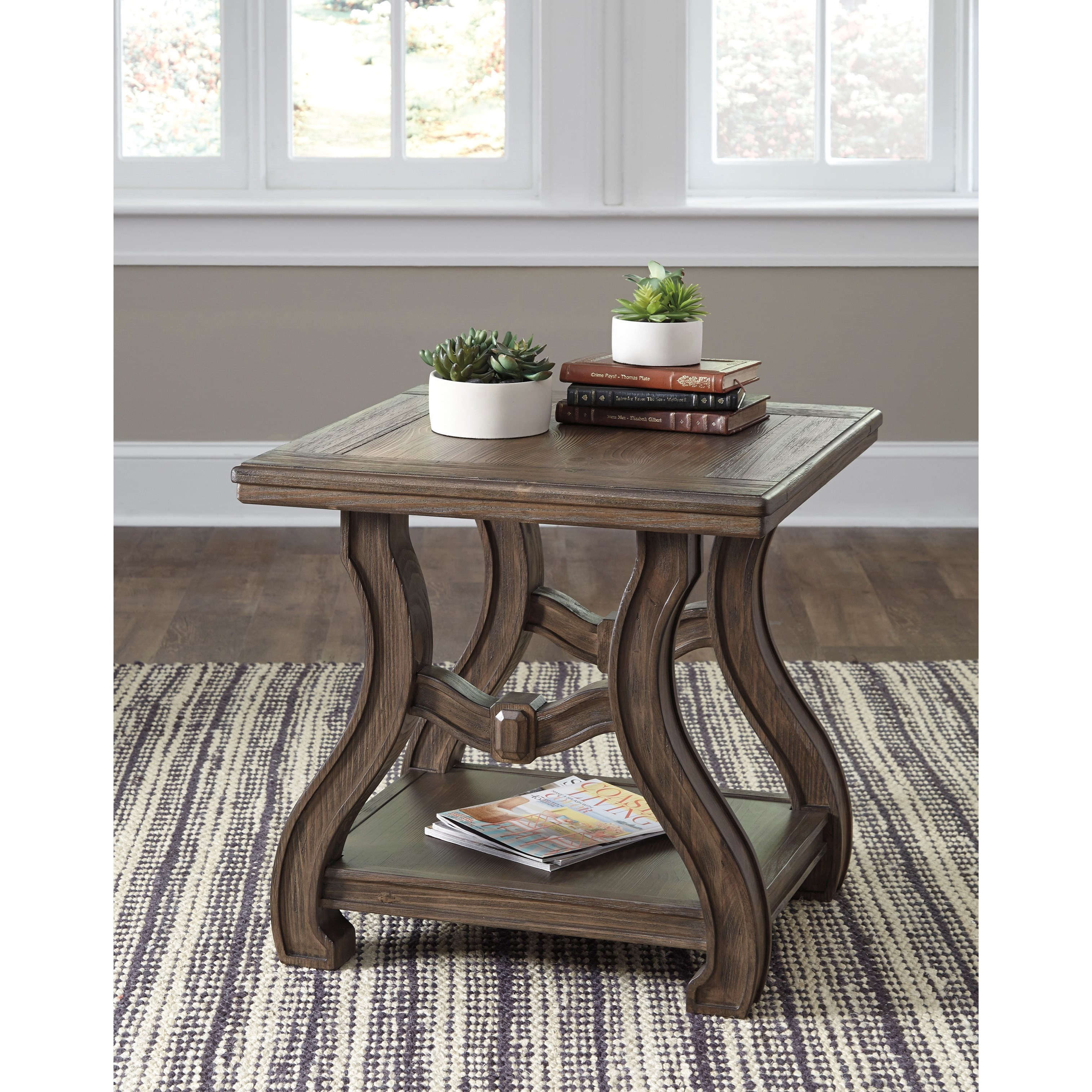 Signature Designs By Ashley Rollins Square End Table: Signature Design By Ashley Tanobay T046-2 Square End Table