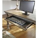 Signature Design by Ashley Tanshire Gray Brown Home Office Desk with Turned Legs