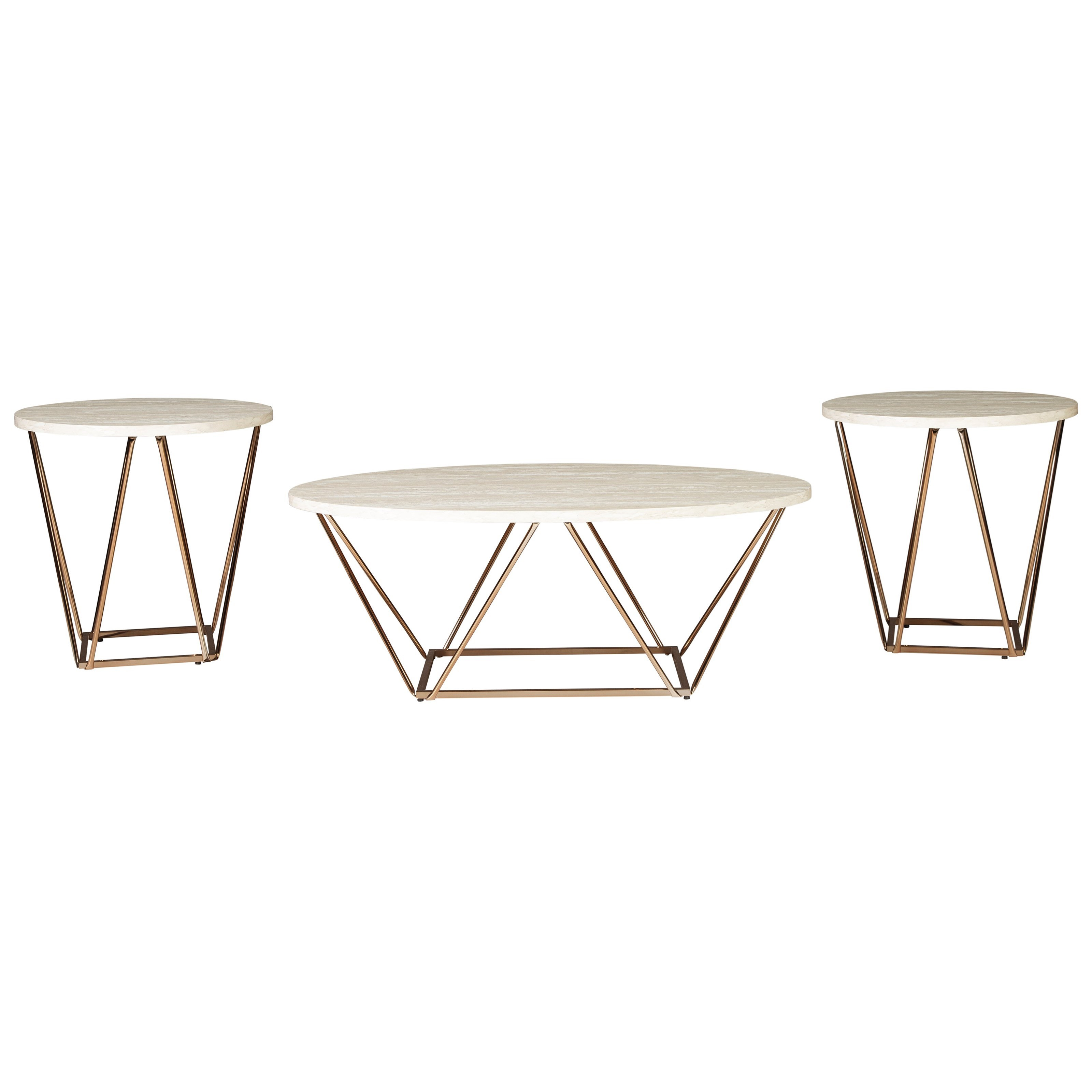 Signature Design By Ashley Tarica Contemporary Occasional Table Set Value City Furniture