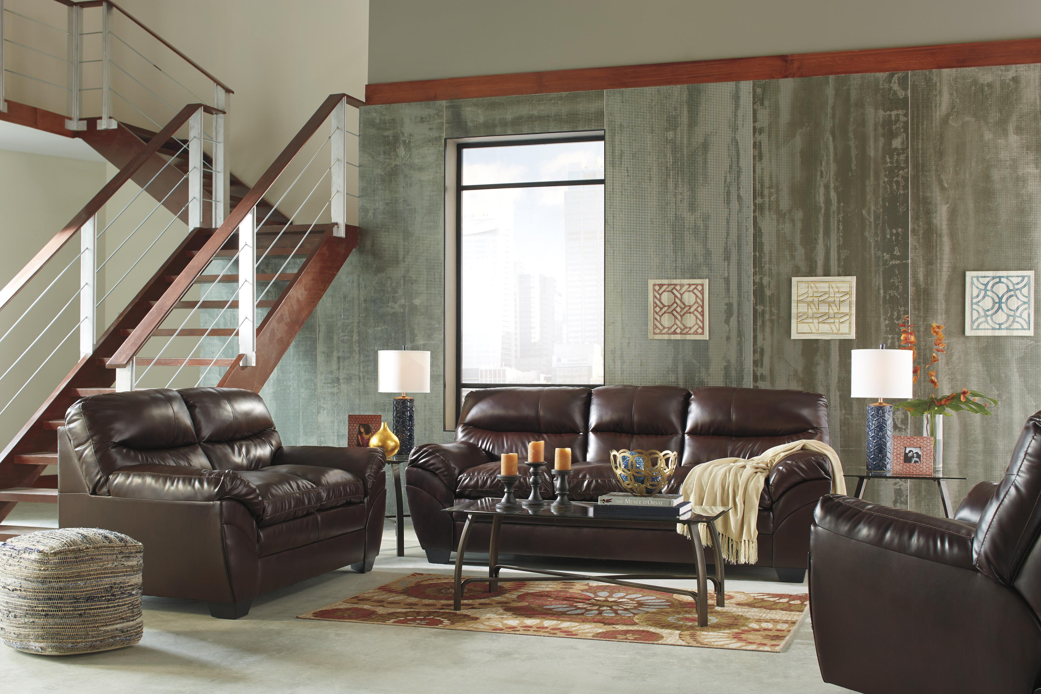 Signature Design by Ashley Tassler DuraBlend® Stationary Living Room Group - Item Number: 46502 Living Room Group 3
