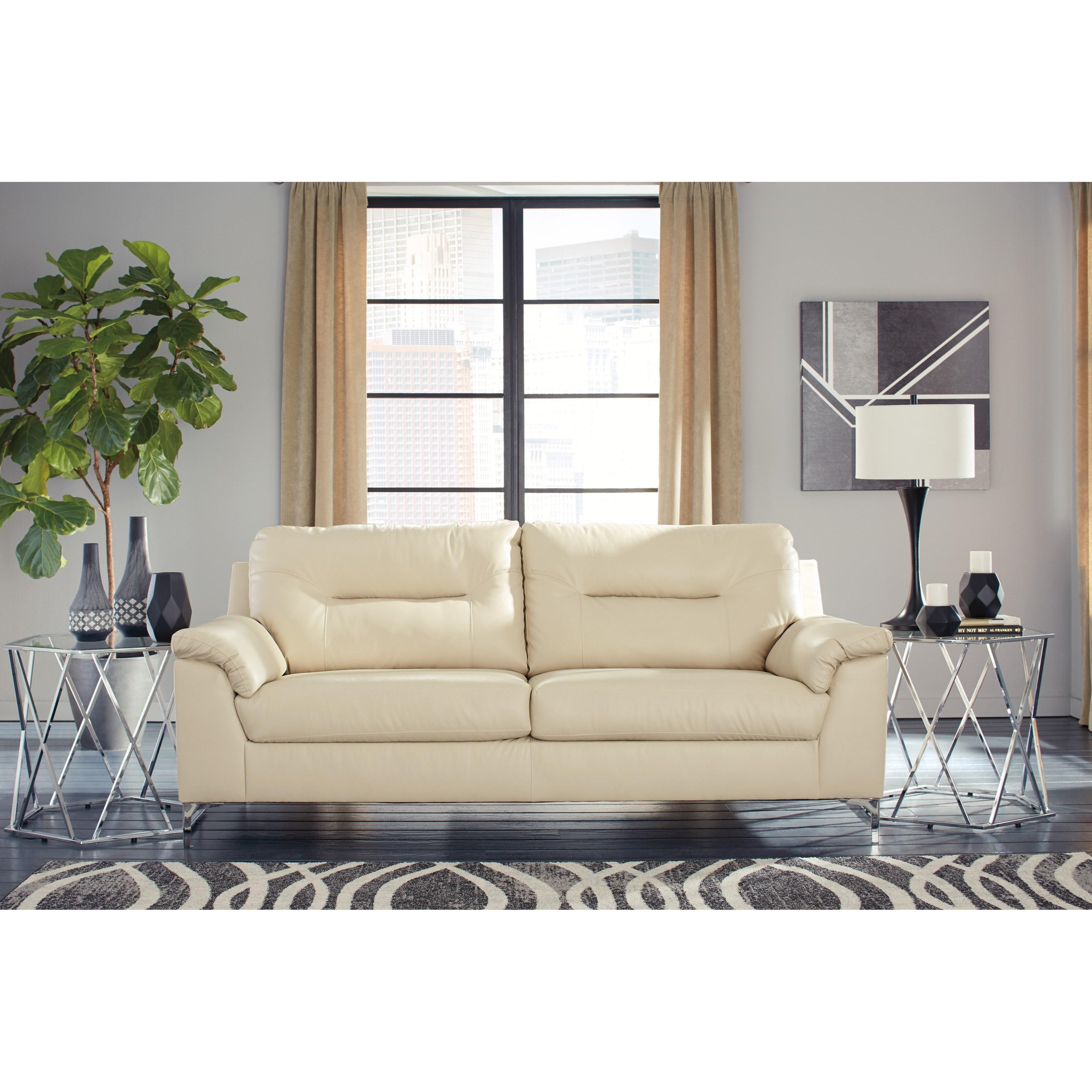 Signature Design By Ashley Tensas Contemporary Sofa With