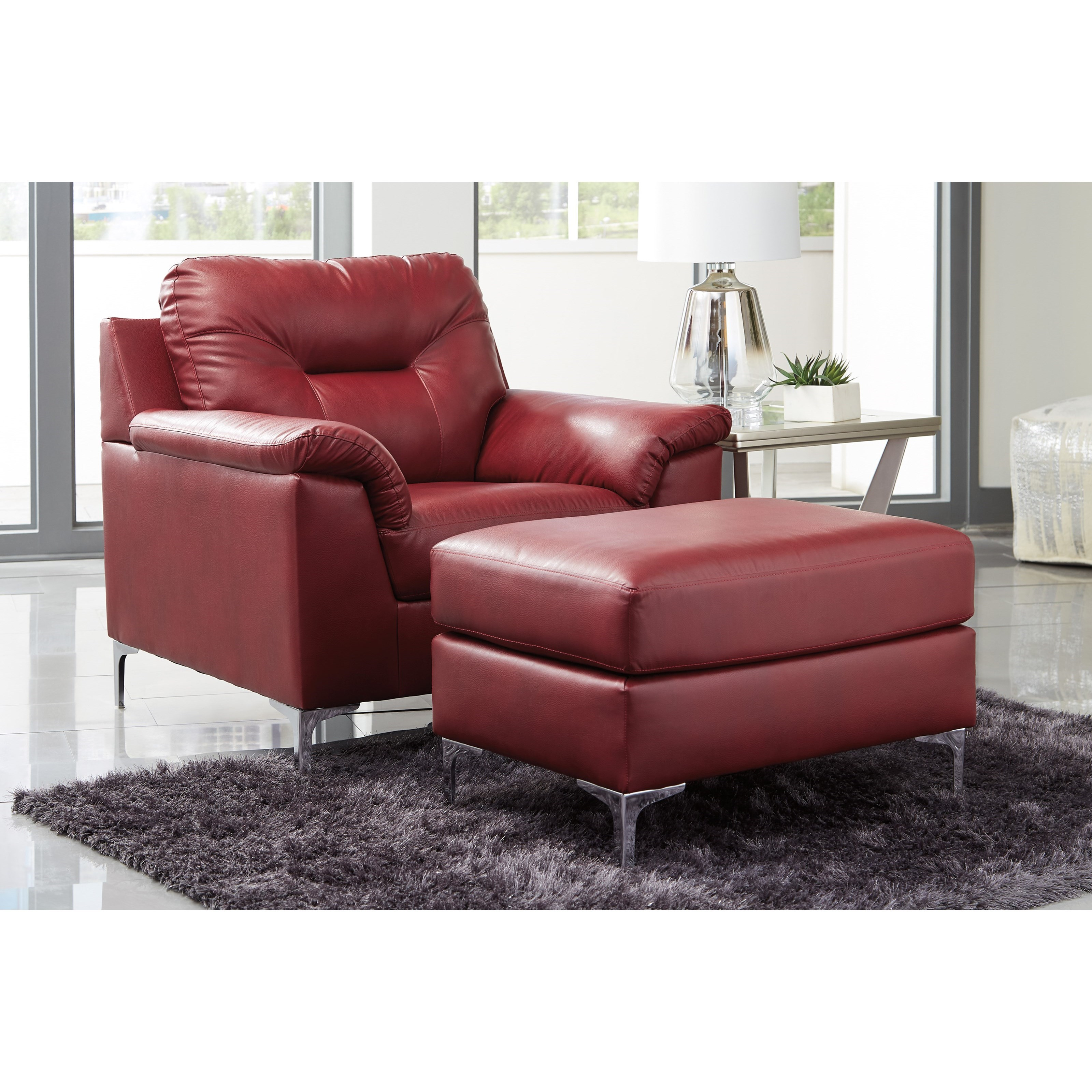 Contemporary Living Room Chair: Signature Design By Ashley Tensas Contemporary Chair And