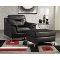 Signature Design by Ashley Tensas Chair and Ottoman - Item Number: 3960420+14