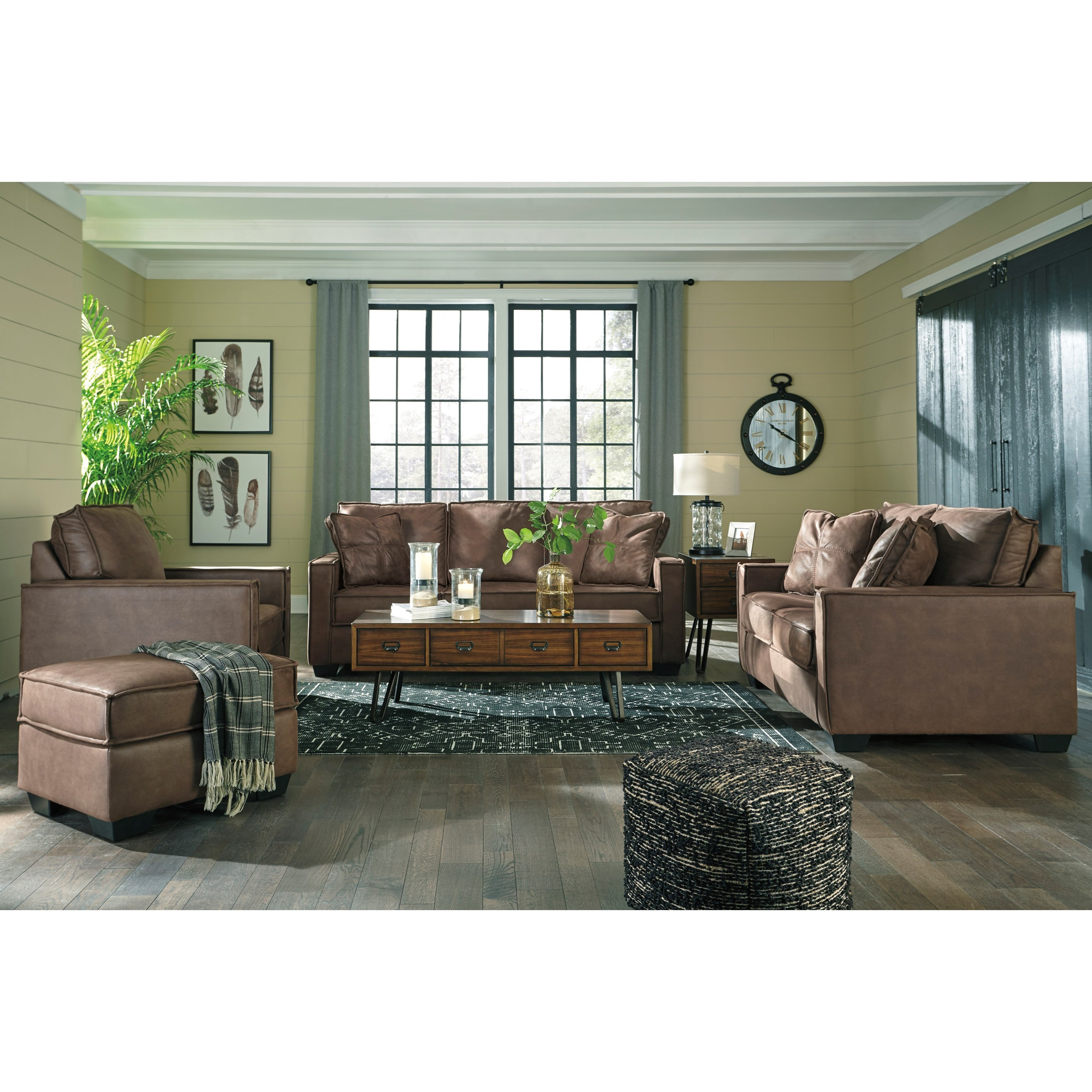 Ashley Furniture 14 Piece Package: Signature Design By Ashley Terrington Faux Leather Chair