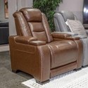 Signature Design by Ashley The Man-Den Power Recliner with Adjustable Headrest - Item Number: U8530613