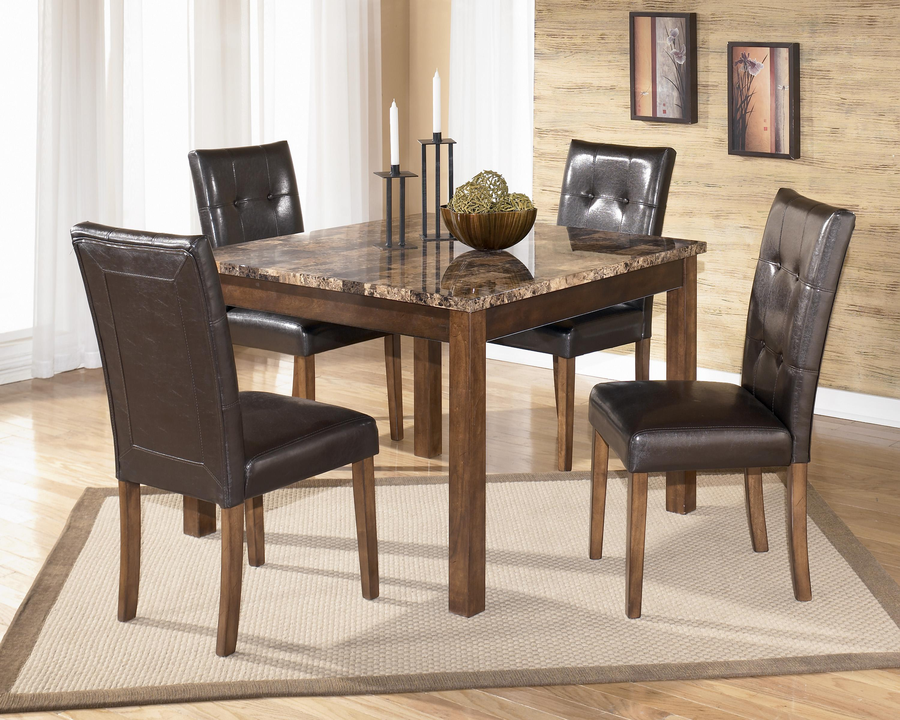 Signature Design by Ashley Theo 5 Piece Square Table Set - Item Number: D158-225