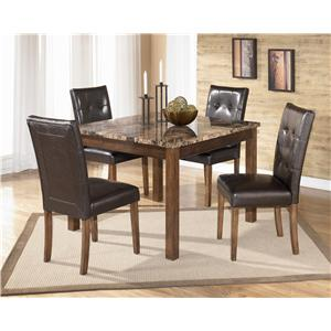 Signature Design By Ashley Theo 5 Piece Square Table Set