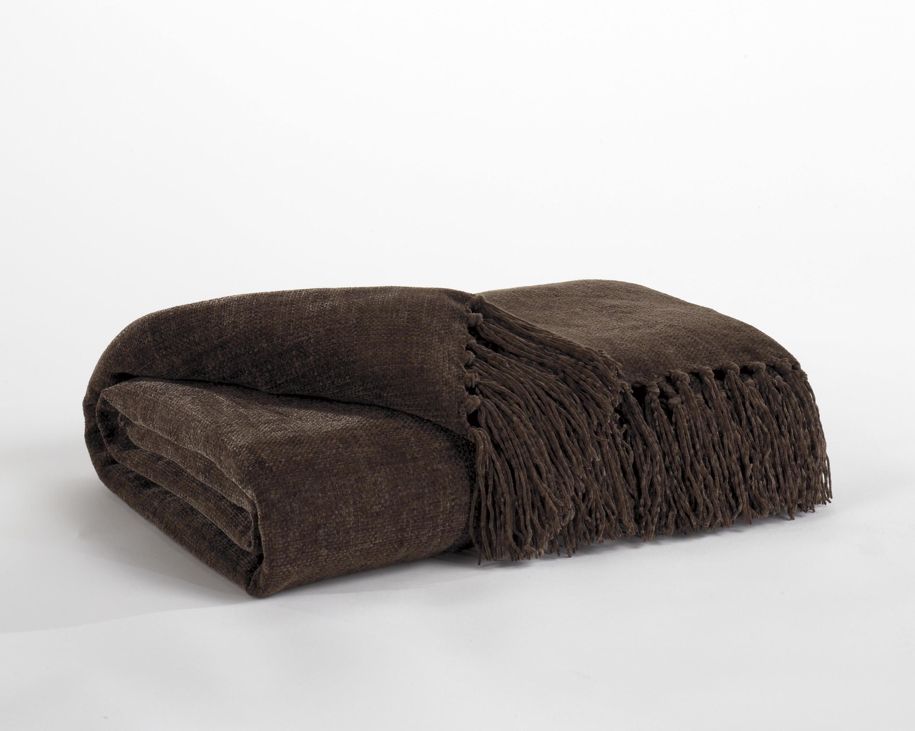 Signature Design by Ashley Throws Revere - Espresso Throw - Item Number: A1000031T