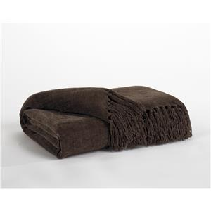 Signature Design by Ashley Throws Revere - Espresso Throw