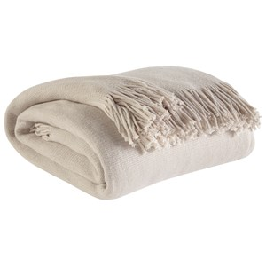 Signature Design by Ashley Throws Haiden - Ivory/Taupe Throw