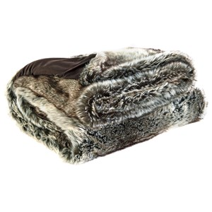 Signature Design by Ashley Throws VanLander - Charcoal Faux Fur Throw