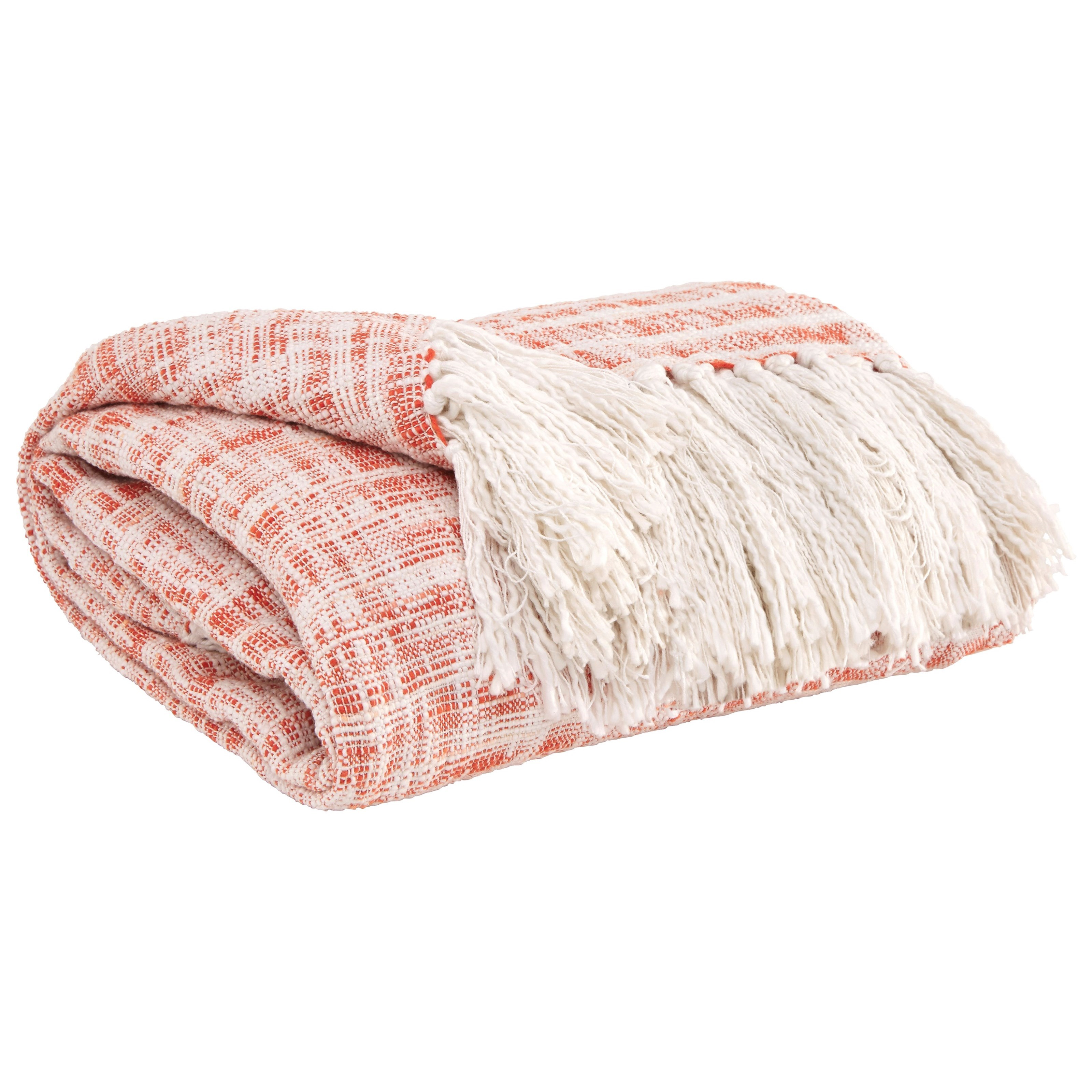 Signature Design by Ashley Throws Cassbab - Coral Throw - Item Number: A1000081T