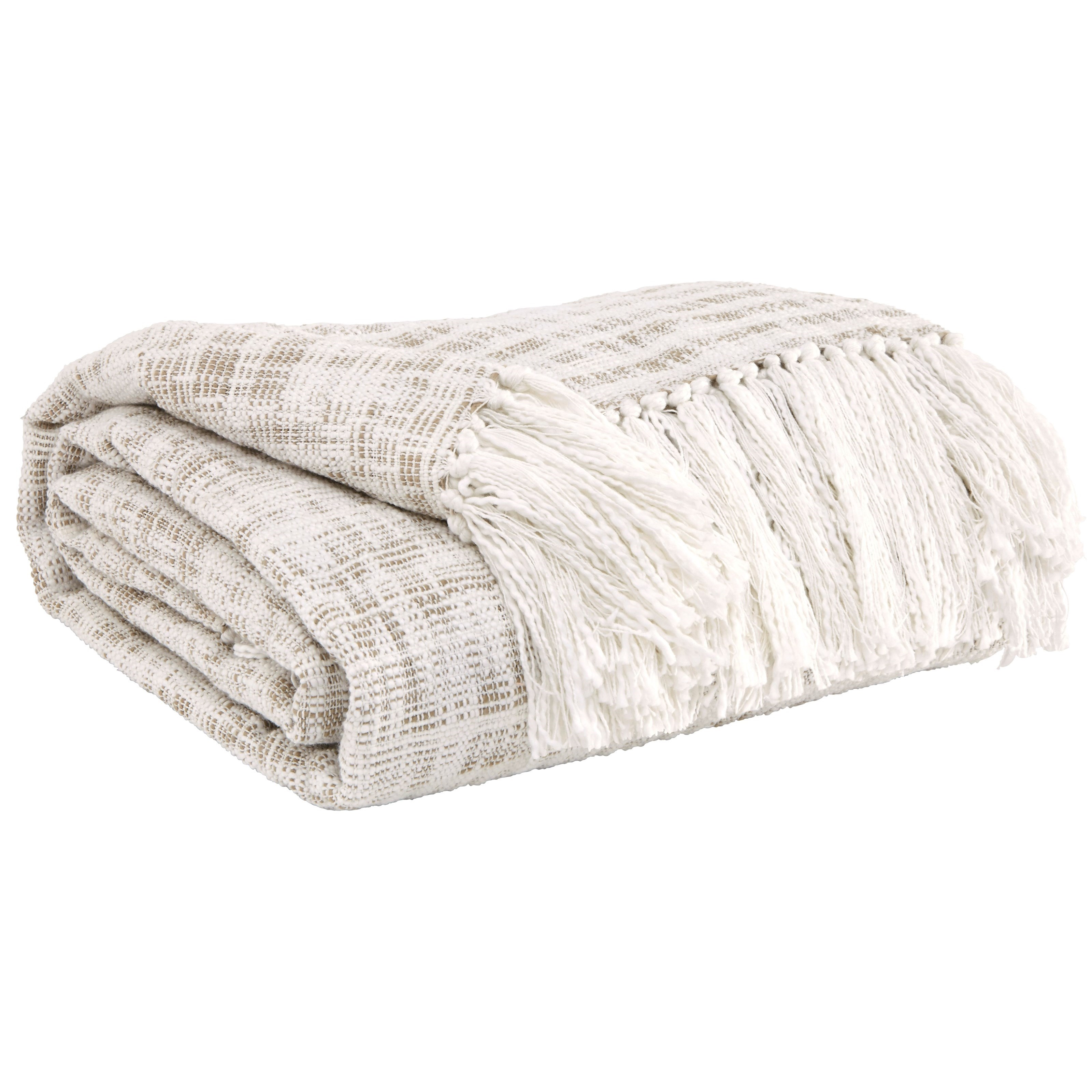 Signature Design by Ashley Throws Cassbab - Beige Throw - Item Number: A1000082T